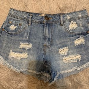Charlotte Russe Mid Rise Jean Shorts